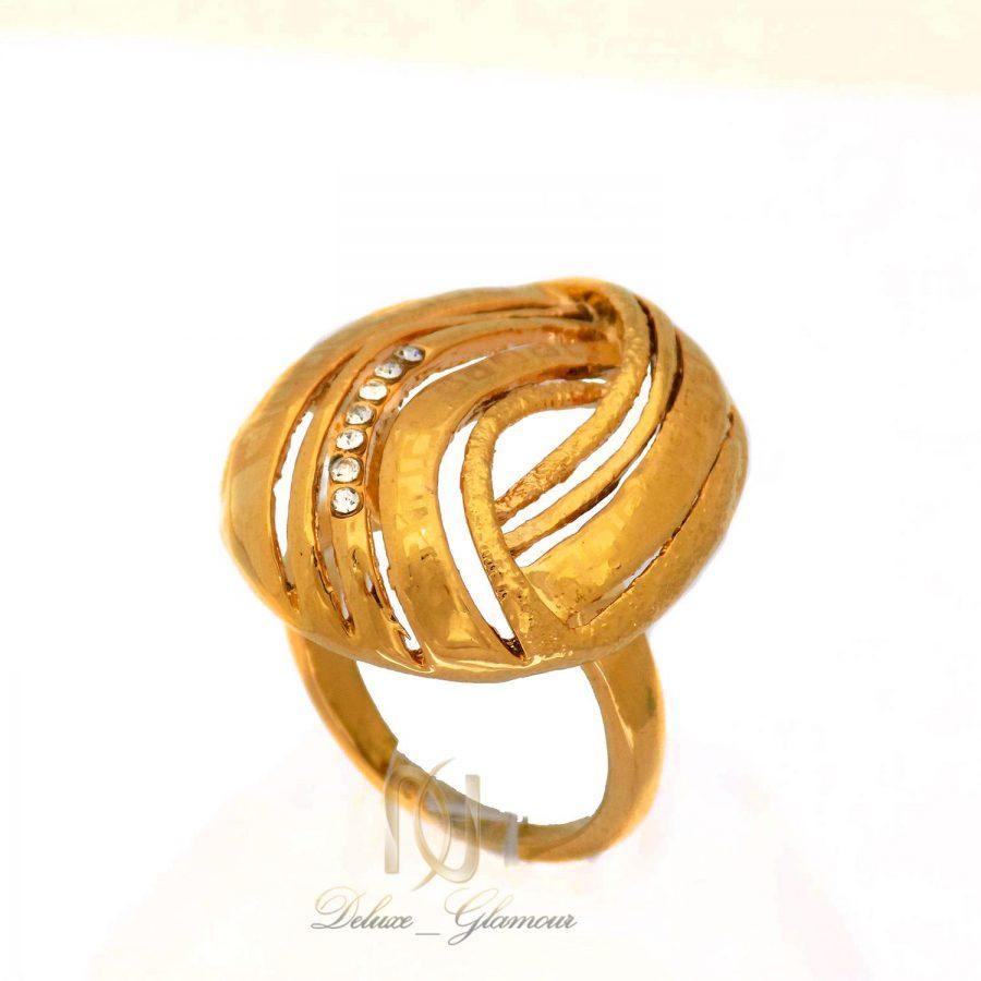 انگشتر استیل زنانه طرح طلای بزرگ rg-n382 از نمای روبرو