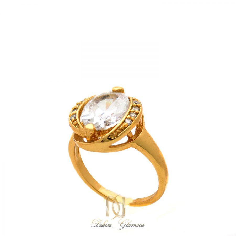 انگشتر زنانه استیل طرح تک نگین rg-n395 از نمای سفید