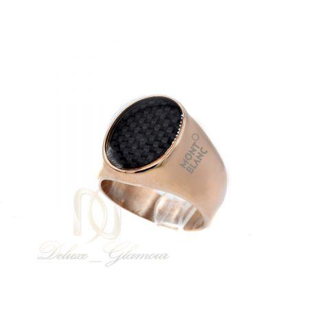 انگشتر مردانه مونت بلانک رزگلد اسپرت RG-N390 از نمای روبرو
