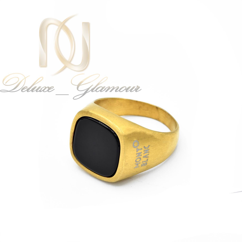 انگشتر مردانه montblanc طلایی اسپرت rg-n389