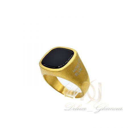 انگشتر مردانه montblanc طلایی اسپرت rg-n389 از نمای روبرو