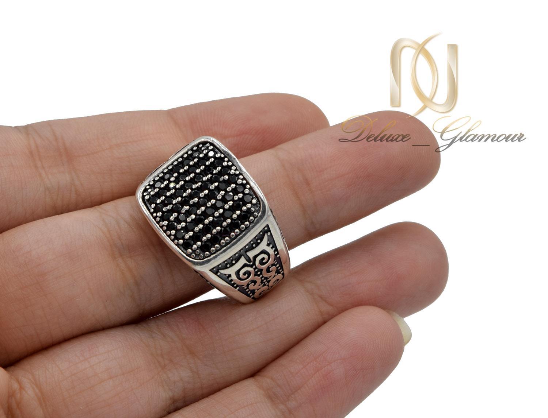 انگشتر نقره مردانه اسپرت نگین مارکازیت rg-n384 از نمای بالا