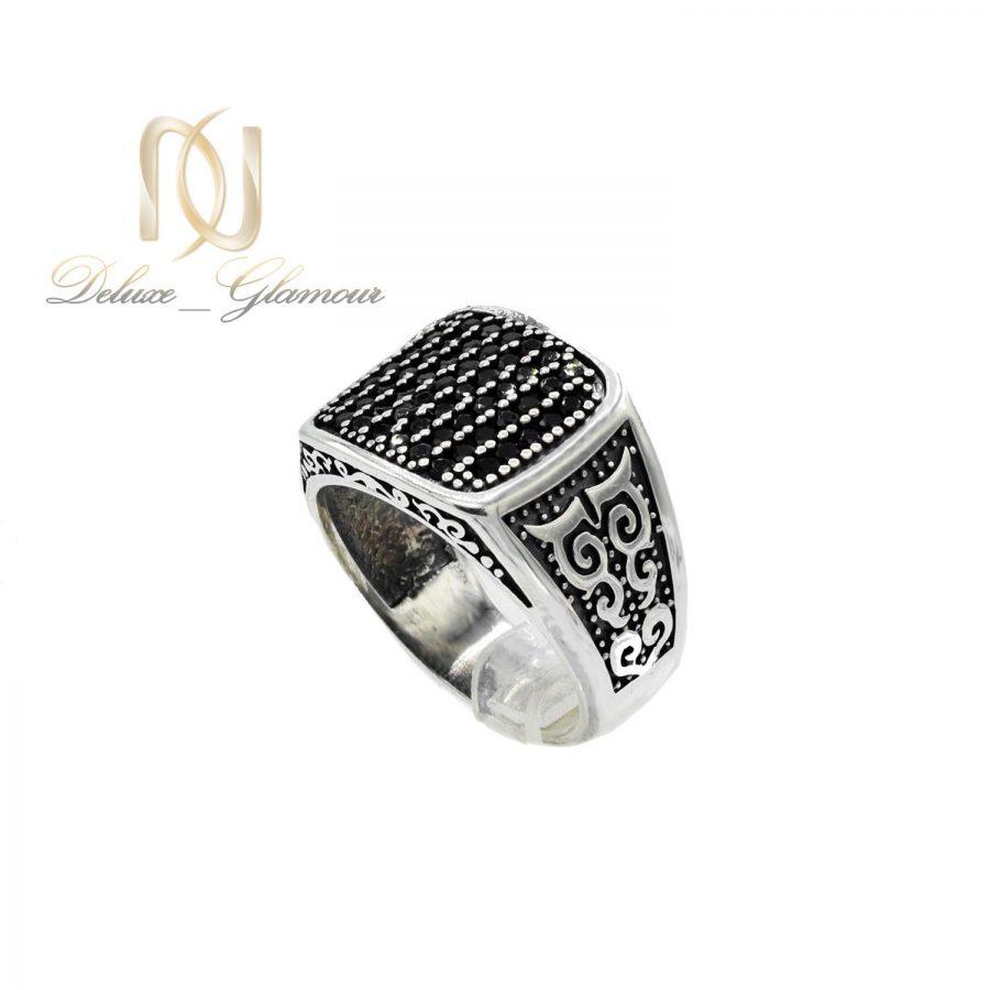 انگشتر نقره مردانه اسپرت نگین مارکازیت rg-n384 از نمای سفید