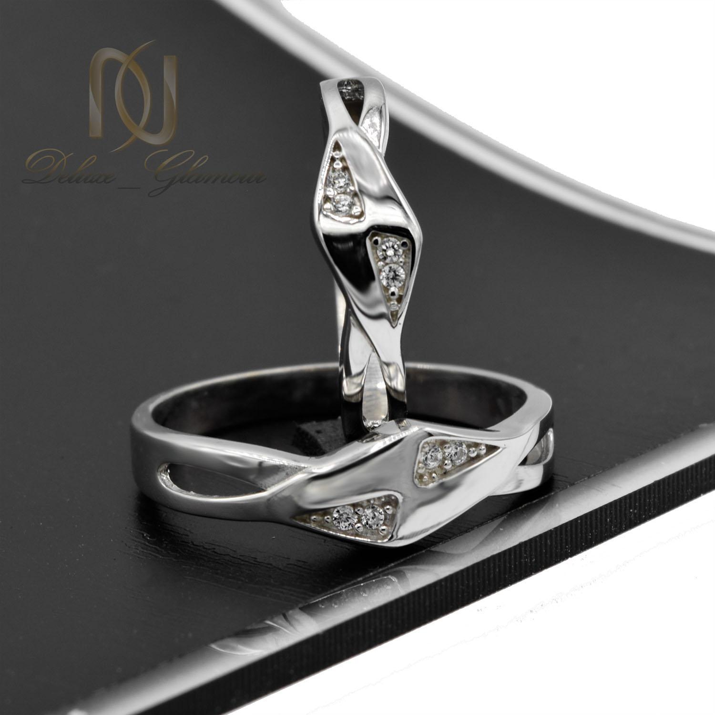 حلقه ست نقره ازدواج طرح جدید نگین دار rg-n393