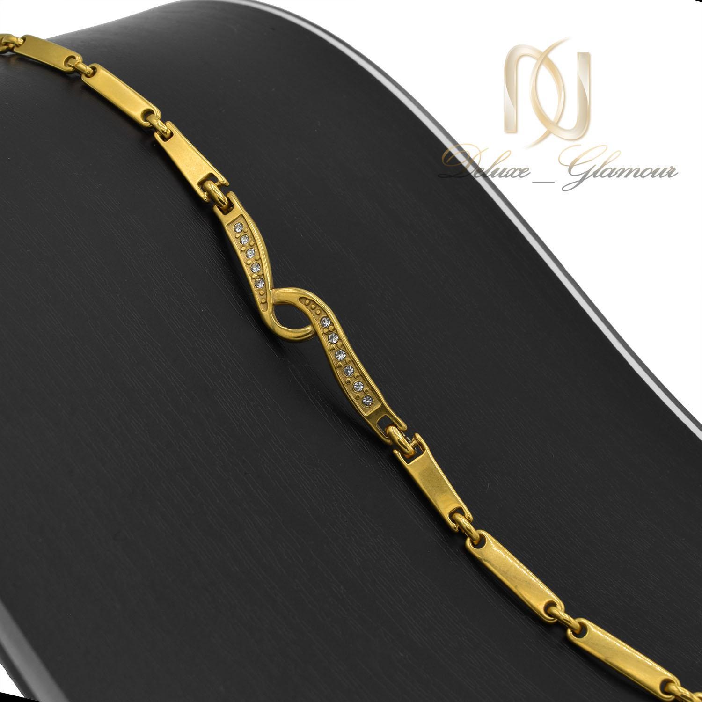 دستبند زنانه استیل طرح طلای نگین دار DS-N485