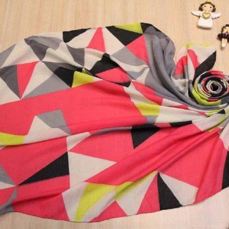 روسری جدید نخی بزرگ بهاری sr-n313 از نمای نزدیک