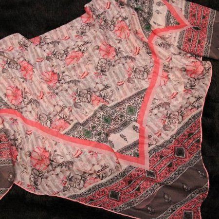 روسری جدید نخی قواره بزرگ بهاری sr-n317
