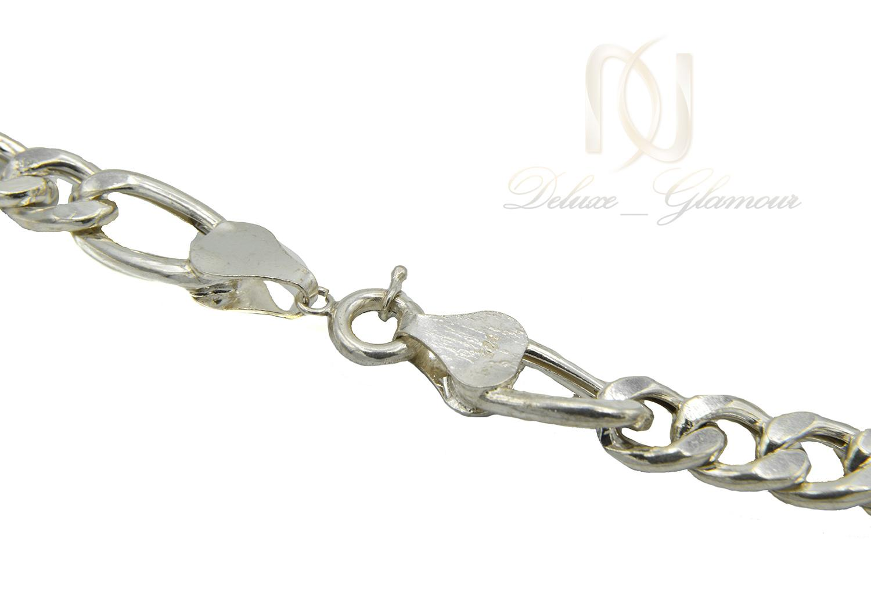 زنجیر نقره مردانه طرح لوفیگارو 70 سانتی nw-n504 از نمای نزدیک