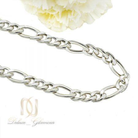 زنجیر نقره مردانه طرح لوفیگارو 70 سانتی nw-n504 از نمای کنار