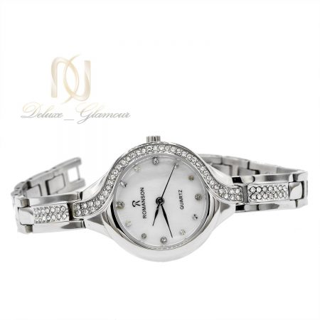 ساعت زنانه استیل رومانسون نقره ای wh-n148 از نمای سفید
