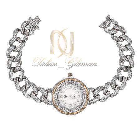 ساعت نقره زنانه طرح کارتیه دو رنگ wh-n150 از نمای سفید