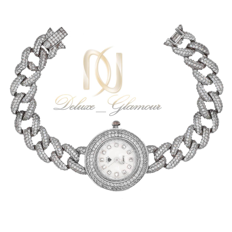 ساعت نقره زنانه طرح کارتیه پرنگین شیک wh-n149 از نمای سفید
