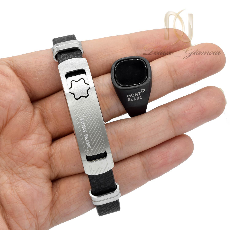 ست دستبند و انگشتر مردانه اسپرت ns-n500