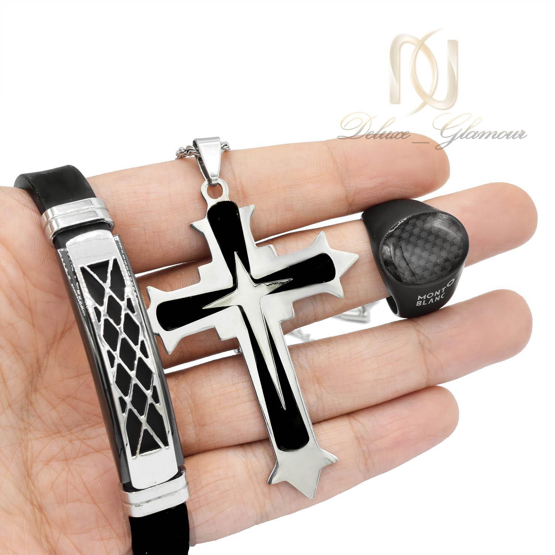 ست دستبند و انگشتر و گردنبند مردانه ns-n498