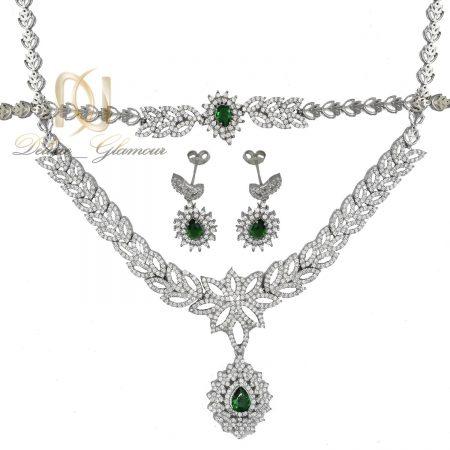 سرویس نقره زنانه سلطنتی نگین سبز ns-n486