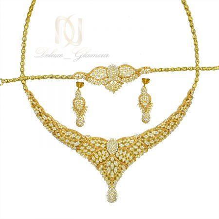 سرویس نقره عروس طلایی پرنگین جدید ns-n481 از نمای سفید