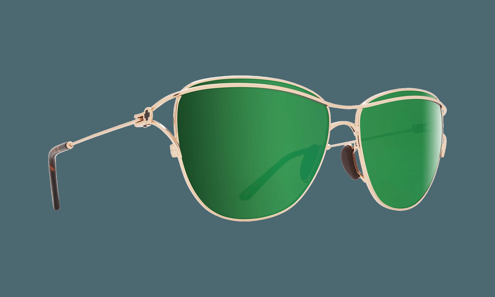 عینک آفتابی با شیشه سبز