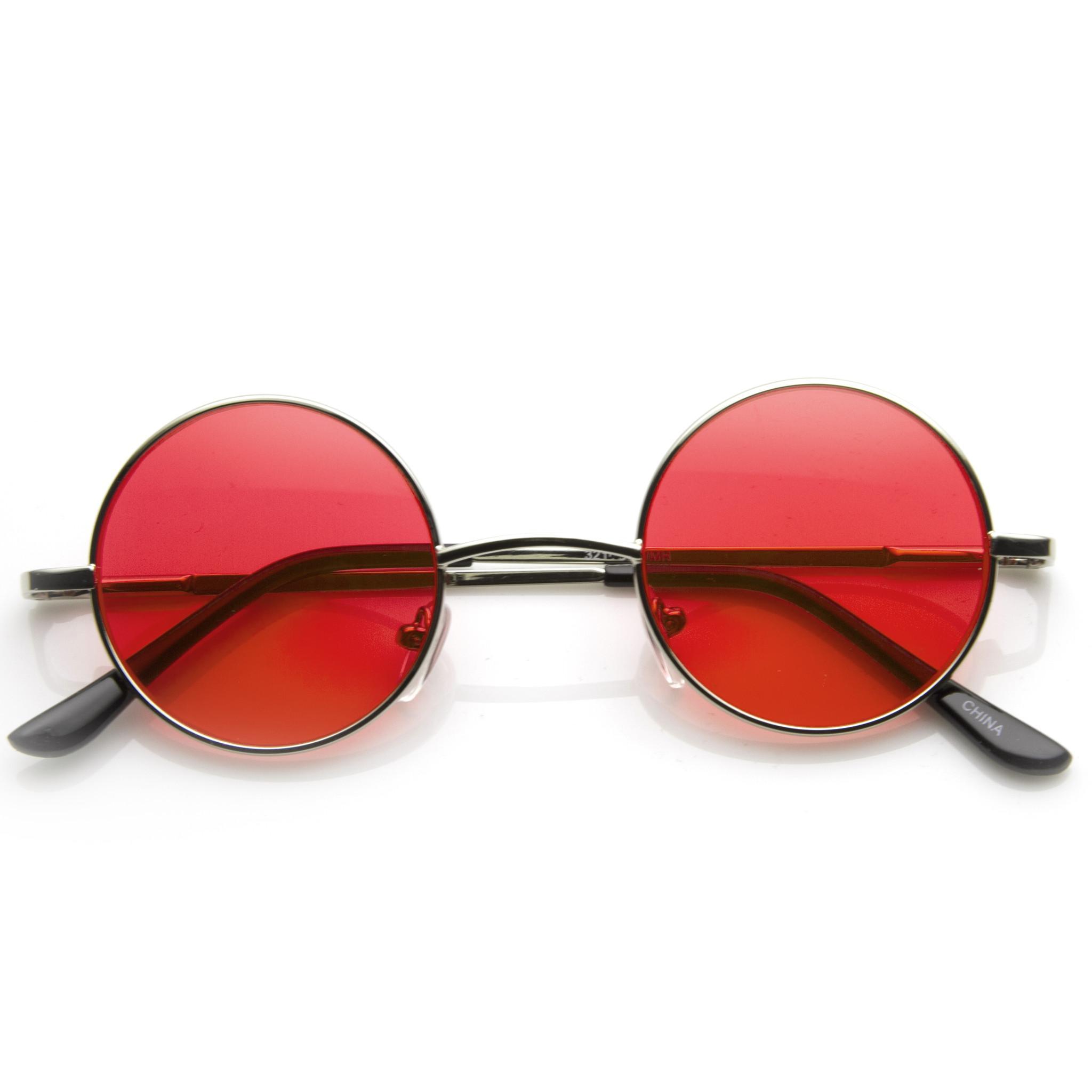 عینک آفتابی با شیشه قرمز