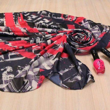 مدل جدید روسری نخی بزرگ بهاری sr-n309 از نمای روبرو