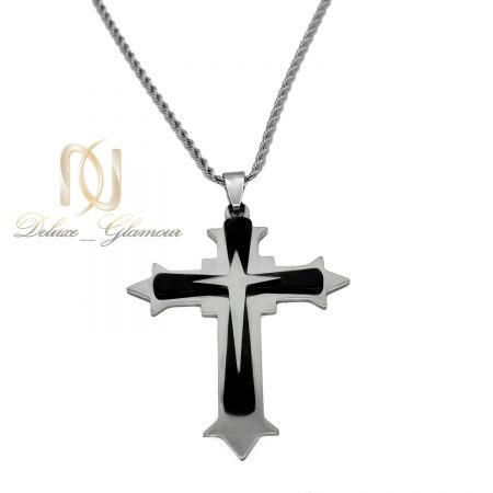 گردنبند صلیب استیل اسپرت شیک nw-n505 از نمای سفید
