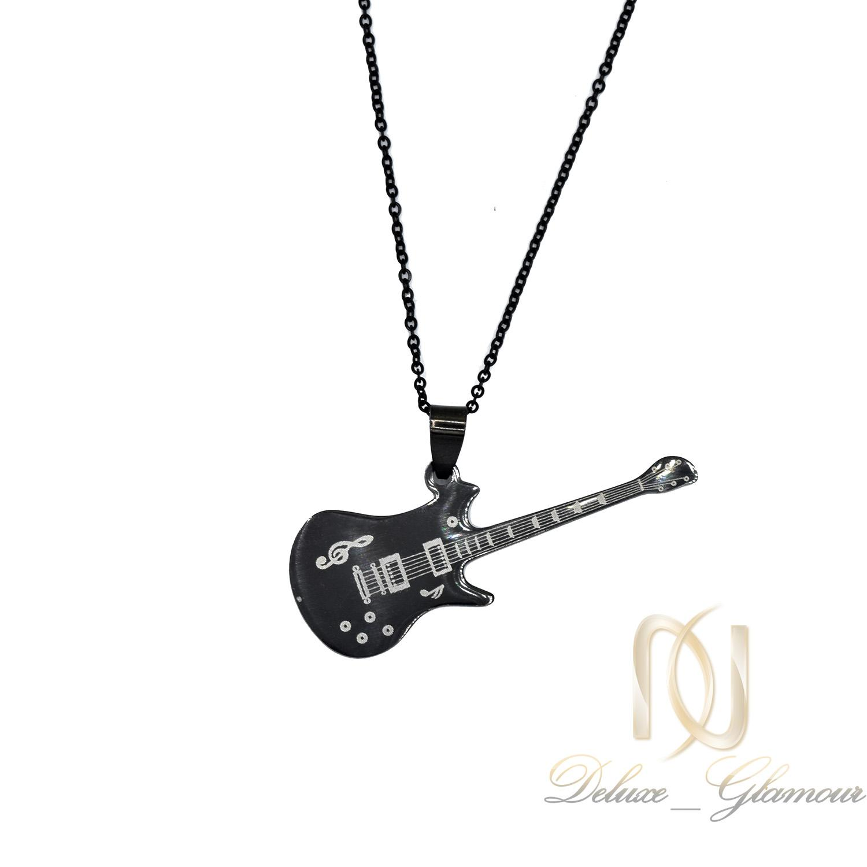 گردنبند گیتار استیل مشکی اسپرت جدید nw-n516 از نمای دور