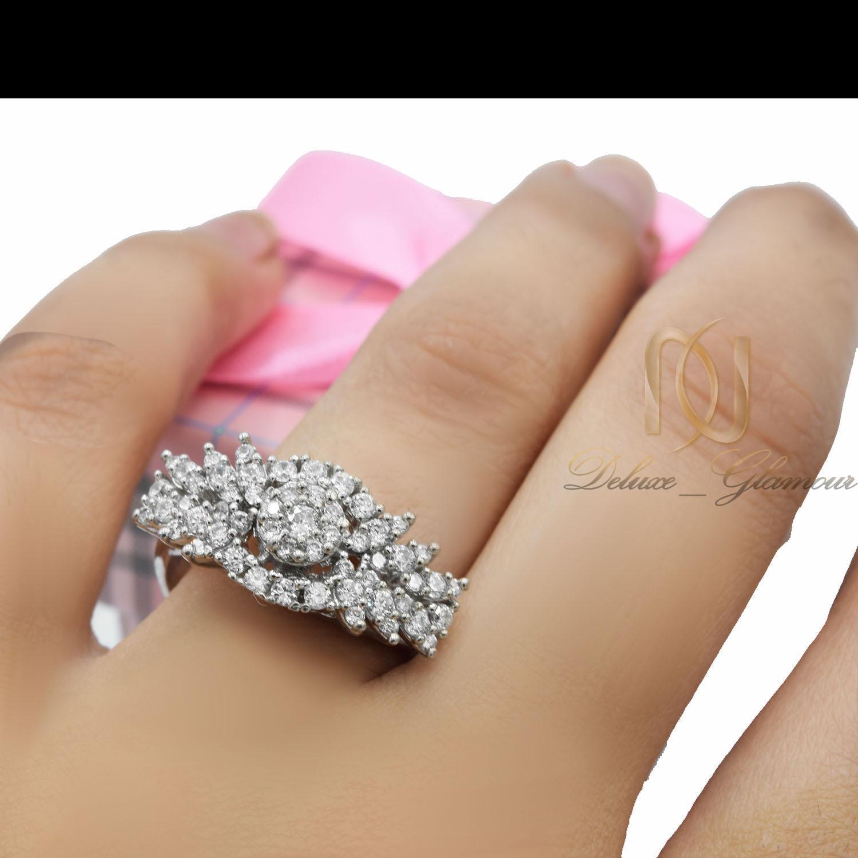 انگشتر زنانه نقره طرح طلا پرنگین rg-n400