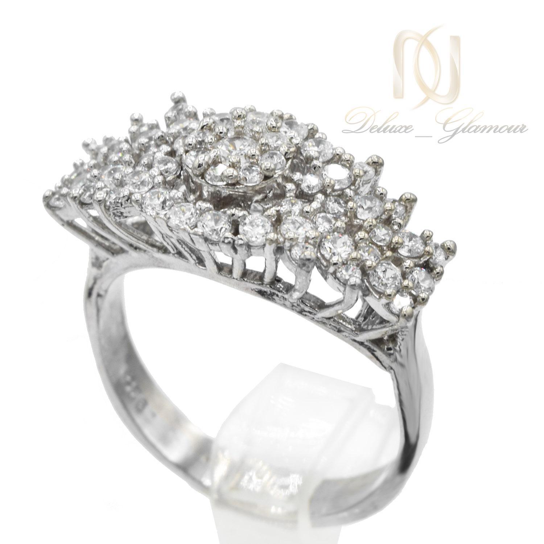 انگشتر زنانه نقره طرح طلا پرنگین rg-n400 از نمای سفید
