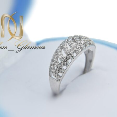 انگشتر نقره زنانه ظریف پرنگین طرح طلا rg-n418