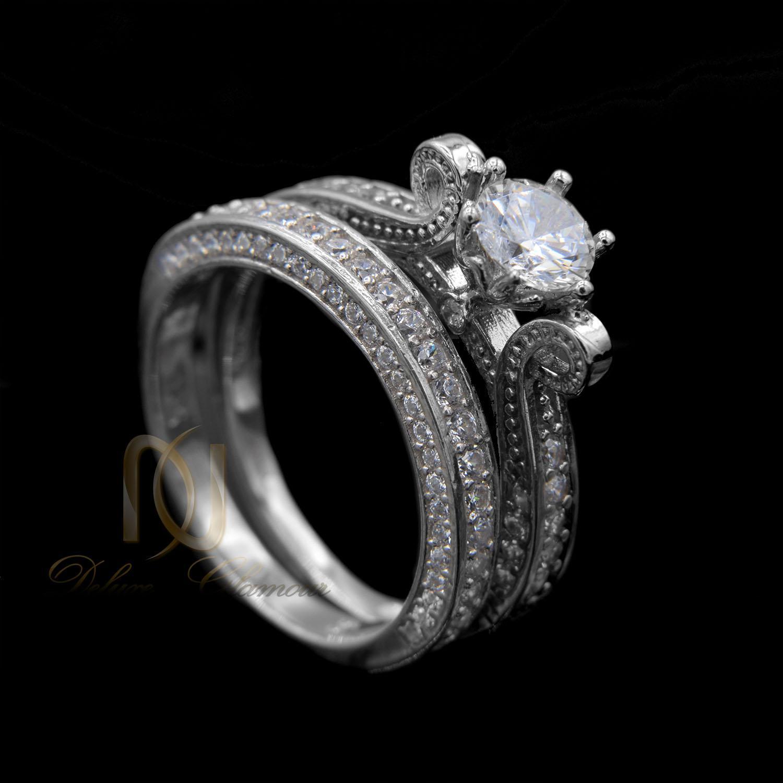 حلقه و پشت حلقه دخترانه شیک rg-n018 - زمینه مشکی