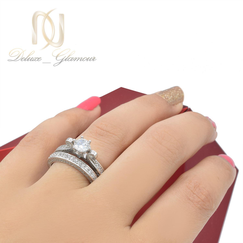 حلقه و پشت حلقه دخترانه شیک rg-n018 - عکس روی دست