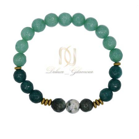 دستبند دخترانه اسپرت سنگ عقیق سبز ds-n467 از نمای بالا