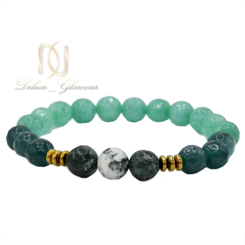 دستبند دخترانه اسپرت سنگ عقیق سبز ds-n467 از نمای پایین