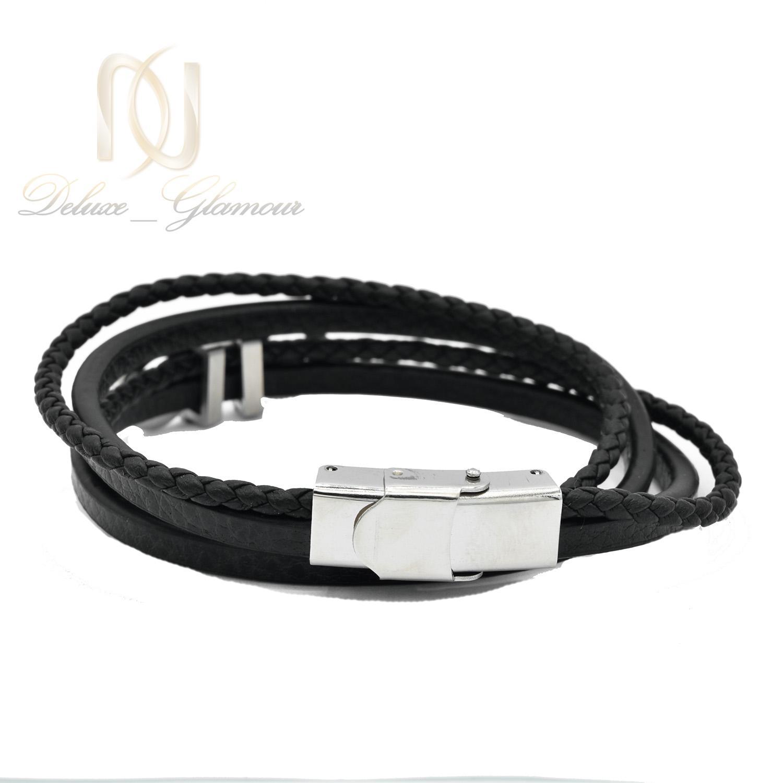 دستبند مردانه چرم طرح ferragamo  چند ردیفه ds-n498
