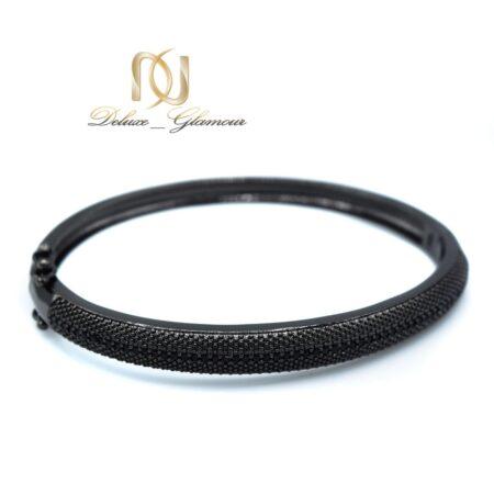 دستبند مشکی دخترانه اسپرت خاص استیل ds-n465 از نمای سفید