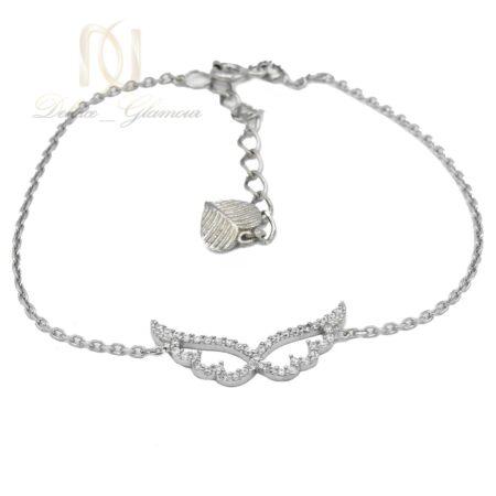 دستبند نقره دخترانه طرح بال فرشته ds-n470