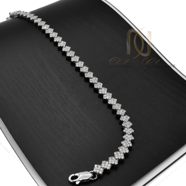 دستبند نقره زنانه پرنس ds-n016 - روی استند