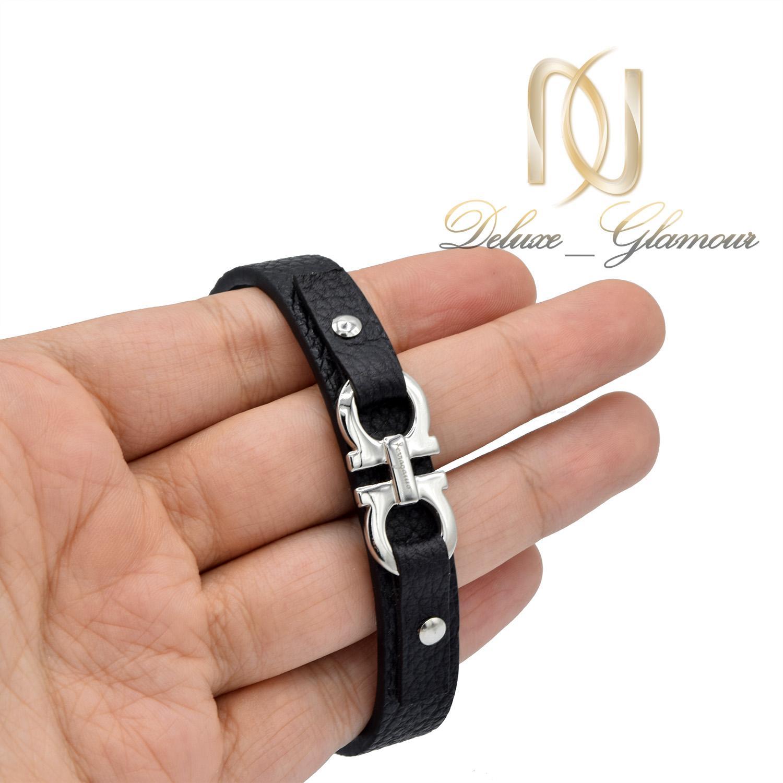 دستبند پسرانه اسپرت چرم طرح فرگامو ds-n492