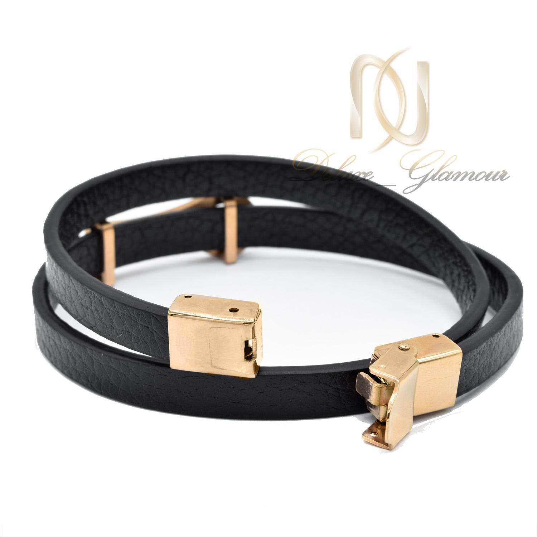 دستبند پسرانه چرم طرح ROLEX اسپرت DS-N491