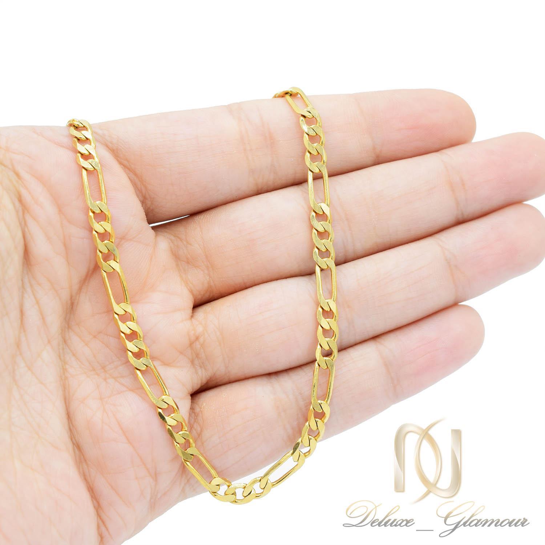 زنجیر مردانه استیل طرح لوفیگارو طلایی nw-n528 از نمای روی دست