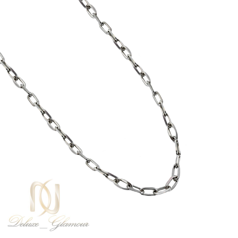 زنجیر نقره مردانه کابلی 60 سانتی متری nw-n520 از نمای سفید