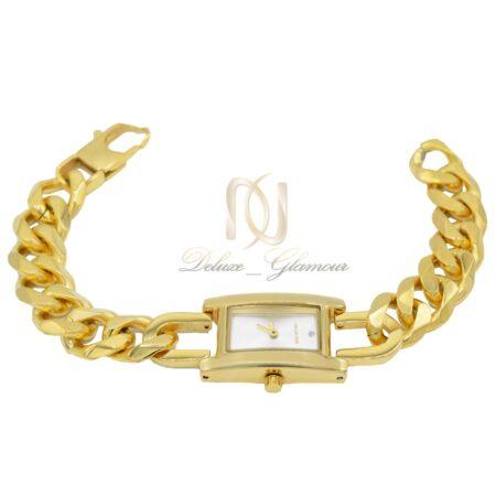 ساعت زنانه استیل kelvin time طلایی wh-n158 از نمای سفید