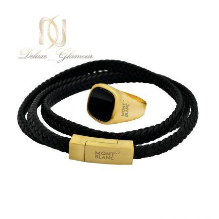 ست انگشتر و دستبند MONTBLANC طلایی NS-N453 از نمای سفید