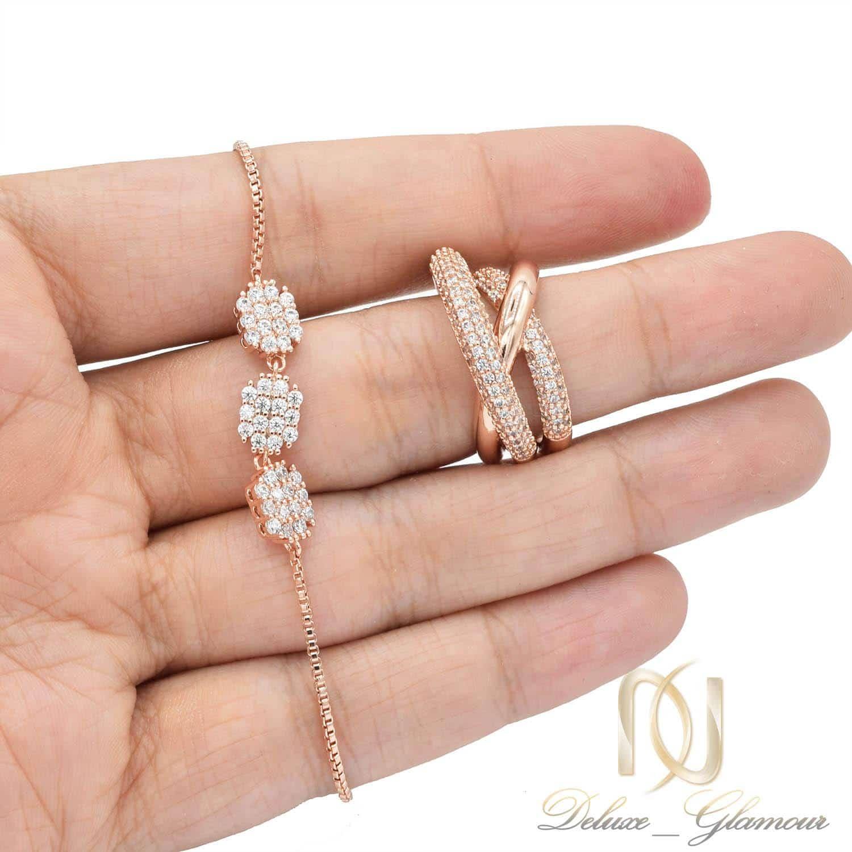 ست دستبند و انگشتر زنانه سواروسکی ns-n455 از نمای نزدیک