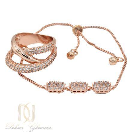 ست دستبند و انگشتر زنانه سواروسکی ns-n455 از نمای سفید