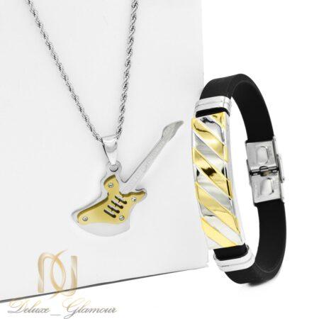 ست دستبند و گردنبند اسپرت جدید ns-n454 از نمای روبرو