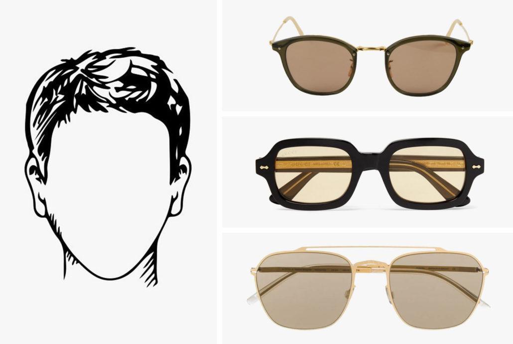 عینک مناسب صورت مثلثی