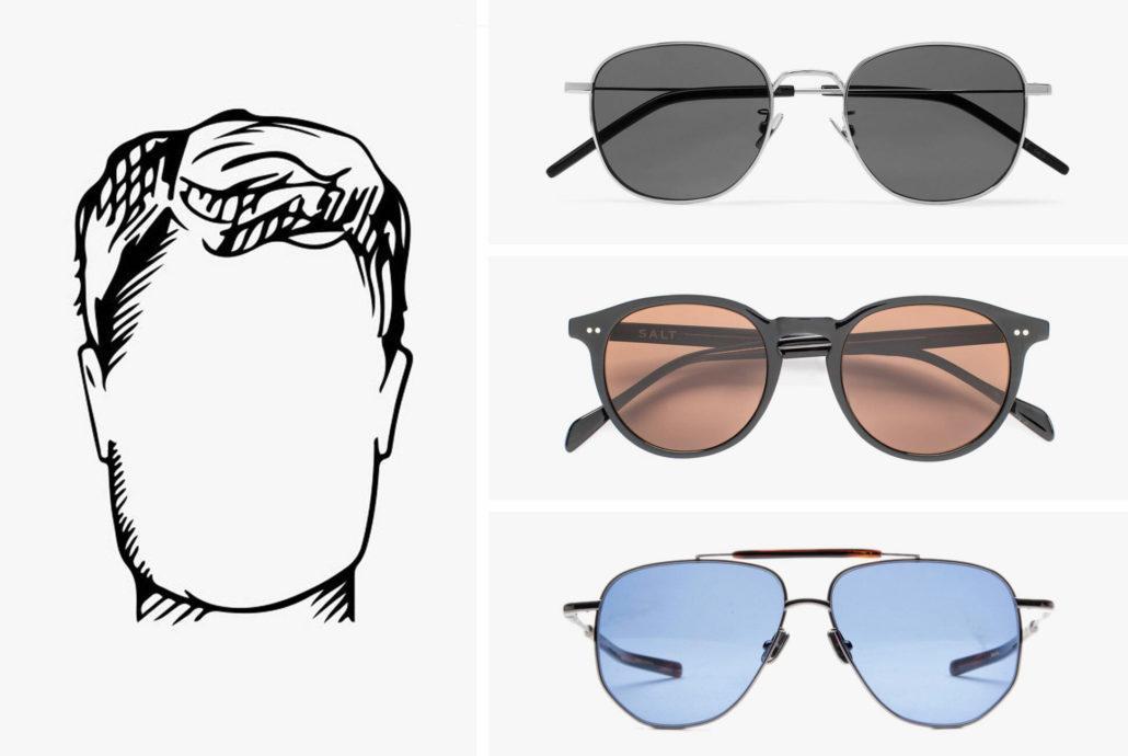 عینک مناسب صورت مربعی