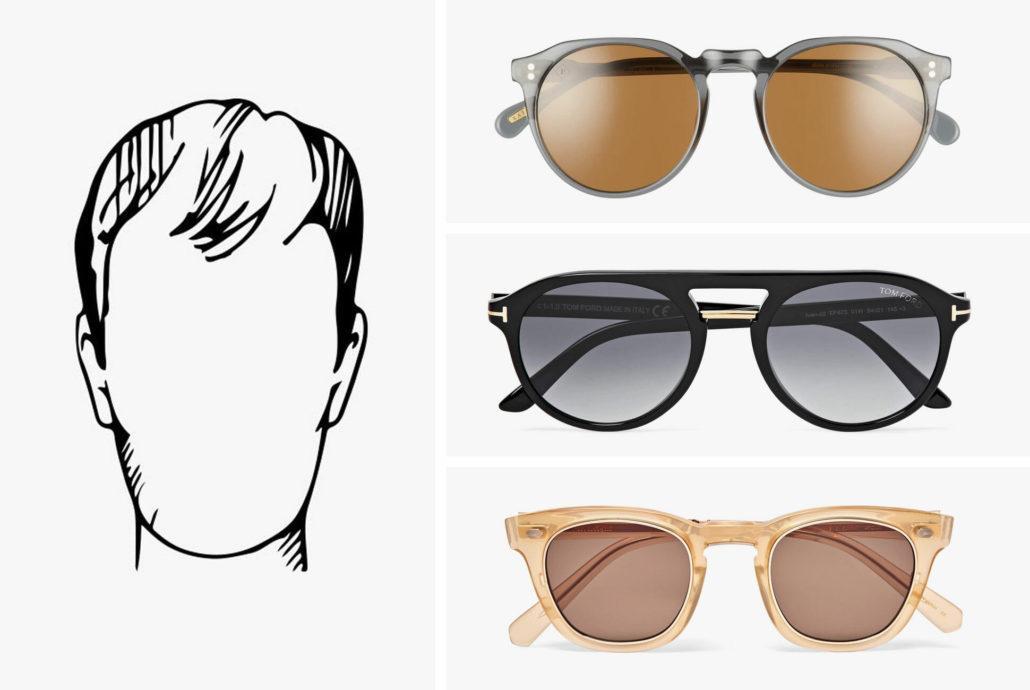 عینک مناسب صورت کشیده و مستطیلی