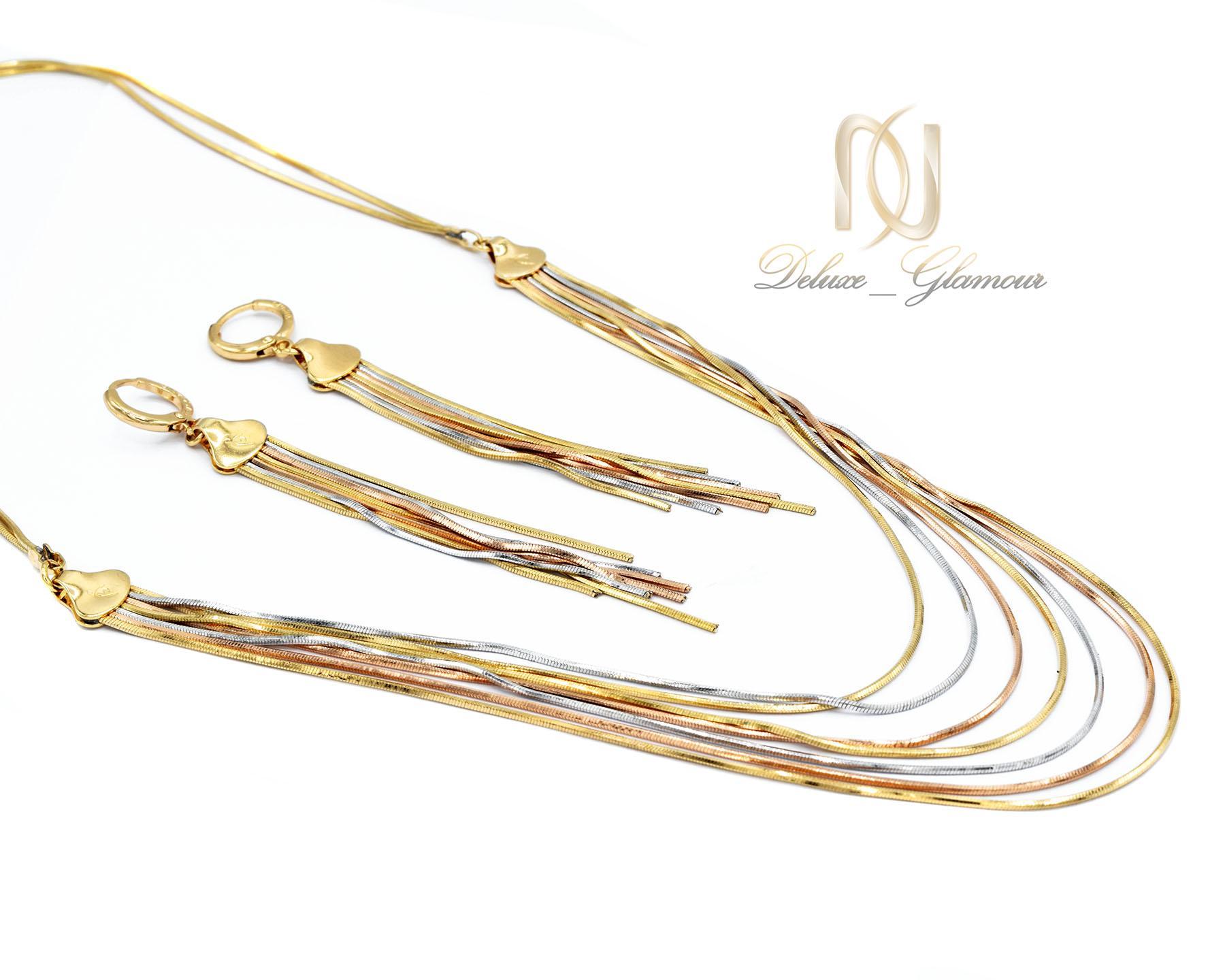 نیم ست زنانه ژوپینگ طرح ایتالیایی سه رنگ ns-n464 از نمای کنار