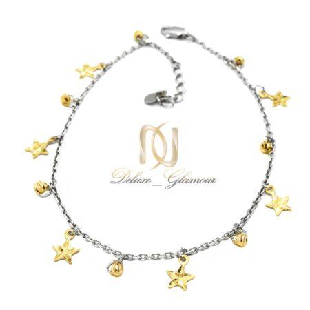 پابند دخترانه طرح ستاره و گوی طلایی pa-n015